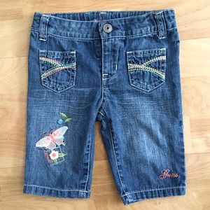 GUESS JEANS embroidered jeans size 18 months